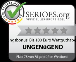 Betsafe Einzahlungsbonus: Bis 100 Euro Wettguthaben Siegel