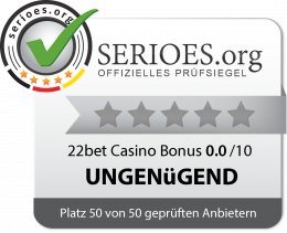 22bet Casino Siegel