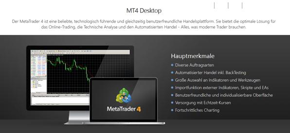 Der MetaTrader 4 bei GKFX