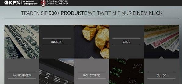 CKFX hat viele Handelsoptionen