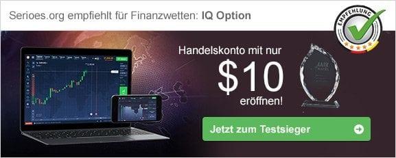 Finanzwetten Empfehlung IQ Option