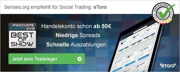 Social Trading Empfehlung eToro