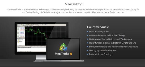 MetaTrader 4 bei GKFX