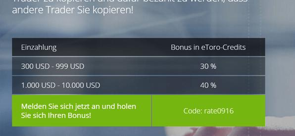 eToro Bonus