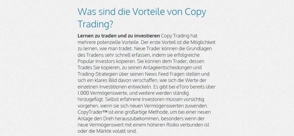Forex Copy Trading hält viele Vorteile bereit
