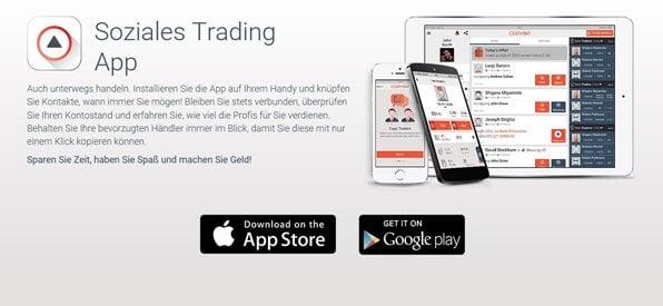 Die mobile App von Copyop im Blick