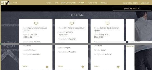 Screenshot Binary Options ETX Capital