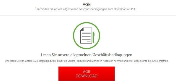 Die AGB müssen während der Kontoeröffnung bestätigt werden