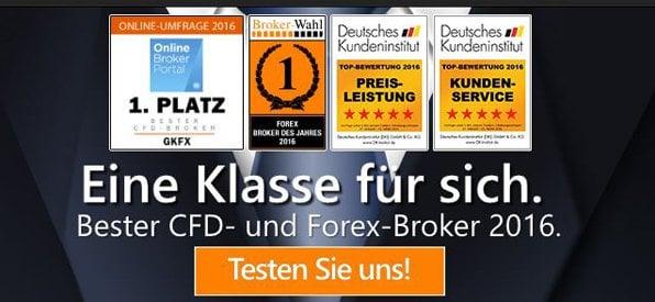 Überblick der Homepage von GKFX