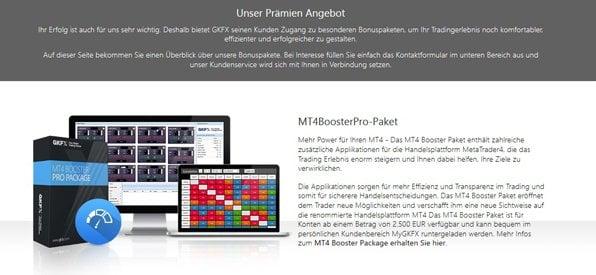 Screenshot GKFX Forex Bonus