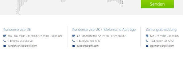 GKFX Kundenservice Support Kontakt