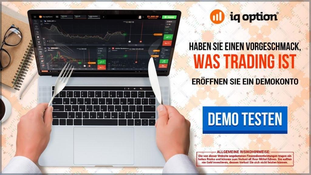 Das IQ Option Demokonto bietet einen Vorgeschmack auf den Handel beim Broker