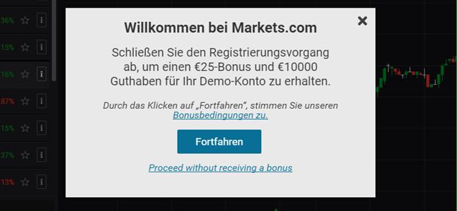 Markets.com Anmeldung