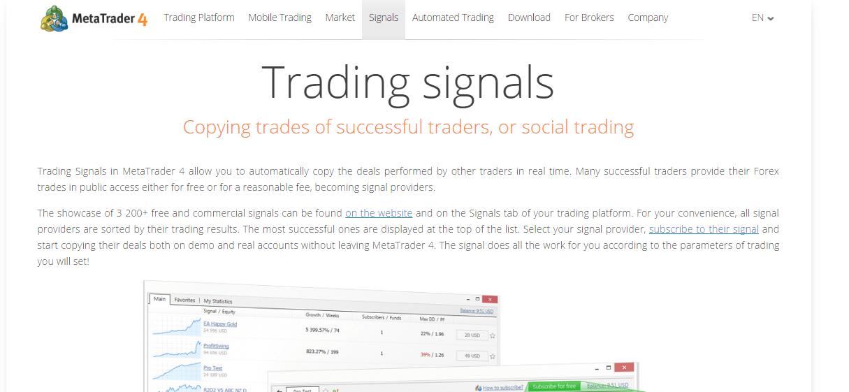 MT4 Trading Signals