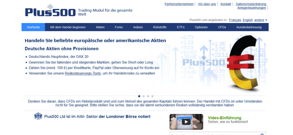 Der Download der Handelsplattform
