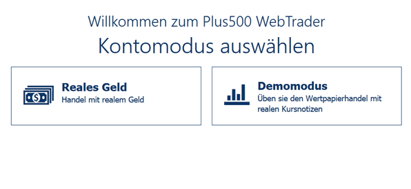Der Plus500 WebTrader