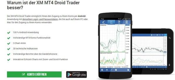 Die mobile XM.com Android App im Überblick