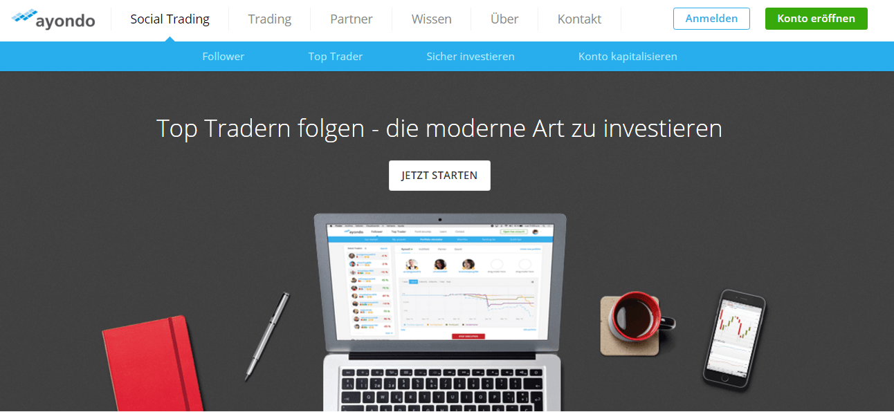 Ayondo Homepage