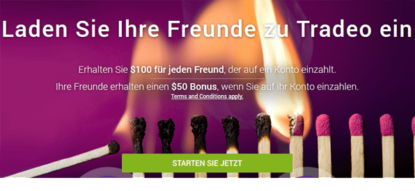 tradeo Freundschaftswerbung Bonus Bonusangebot