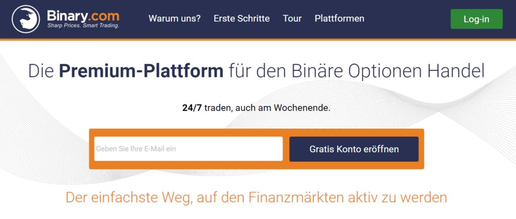 Binary.com Anmeldung