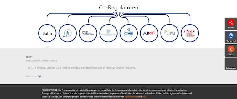 Regulierung bei GKFX im Überblick