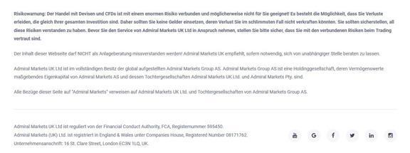 Risikowarnung Admiral Markets