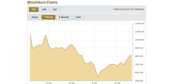 Bitcoin Kurs 1 Monat