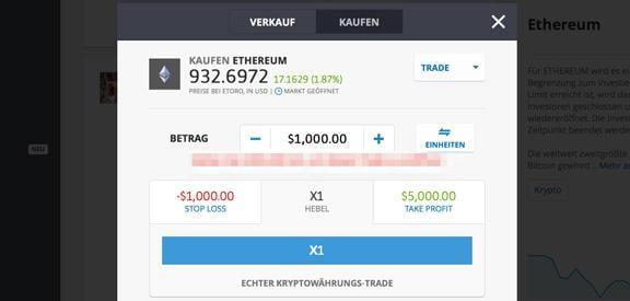 eToro Ethereum Trading