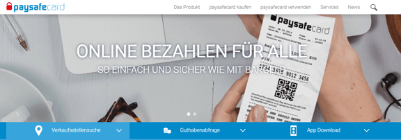 Startseite Online Bezahldienst Paysafecard