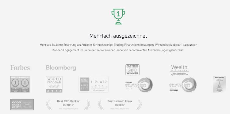XTB Auszeichnungen