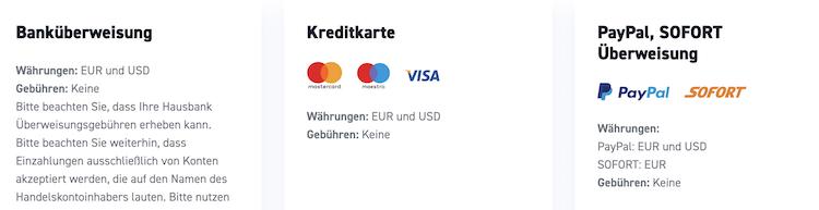 XTB Einzahlung