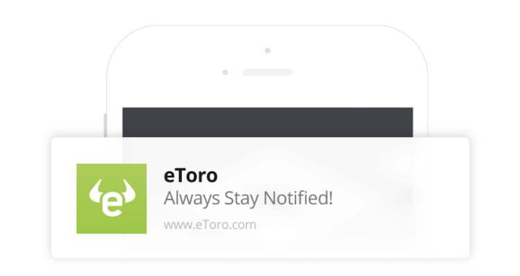eToro App Push-Nachrichten