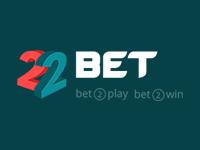 Das 22Bet Logo im Format 200x150