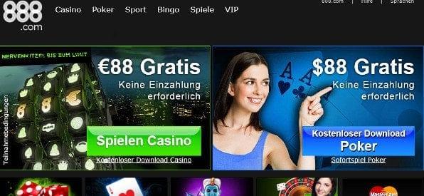 Willkommensbonus des 888 Casino auf de.888.com