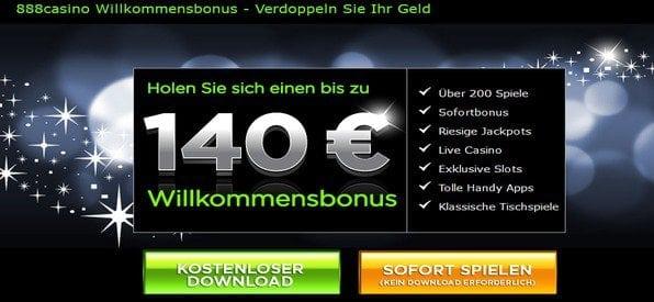 Der 888 Casino-Bonus rangiert im oberen Mittelfeld.