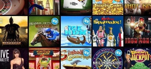 Auswahl an casino-Spielen für den Ladbrokes Casino Rollover
