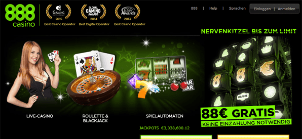 Bonus ohne Einzahlung bei 888 Casino