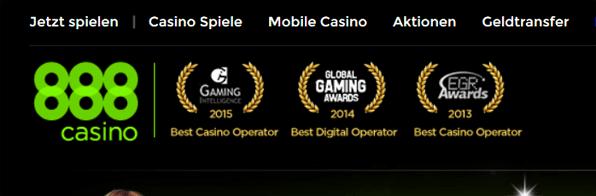 888Casino bietet eine Vielzahl an Casino Games und tollen Boni