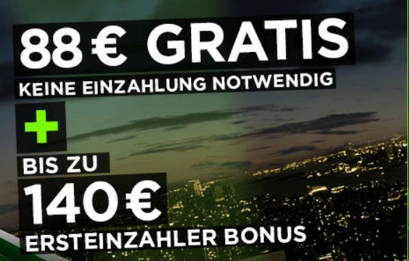 888Casino punktet mit einem einzahlungsfreien Bonus in Höhe von 88 Euro