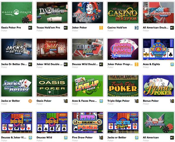 Auswahl Pokerspiele Interwetten