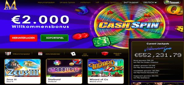 Mega Casino Startseite