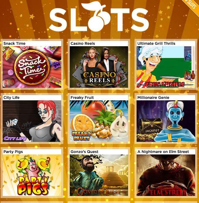 Slots, wohin man sieht bei 888 Casino.