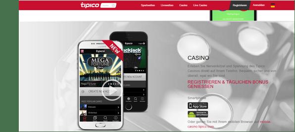 Die Mobile Casino Apps von Tipico