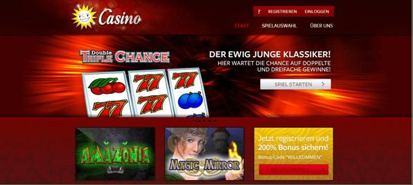 Die Startseite von Merkur CasinoDie Startseite von Merkur Casino