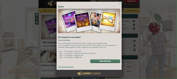 Der Willkommensbonus von CherryCasino