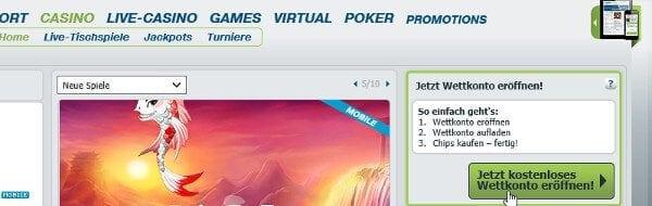 So melden Sie ein neues Konto bei bet-at-hohem Casino an