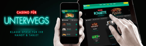 Mobile App des Casinos