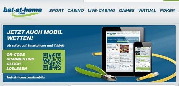 Das mobile Angebot von Bet-at-home ist auch mobil erhältlich.