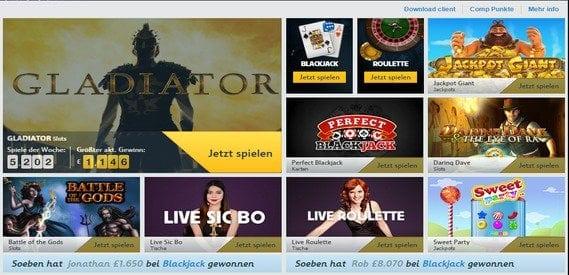 An Casinogames hat Betfair Casino Einiges zu bieten