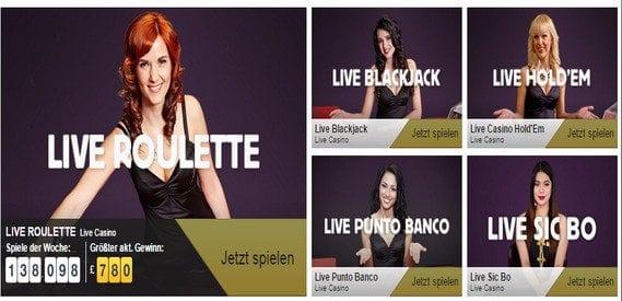 Das Betfair Live-Casino bietet spannende Casino-Atmosphäre.